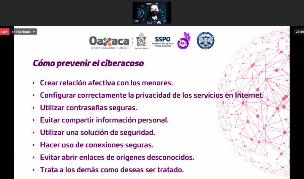 Se impartió plática para promover la prevención del ciberacoso en la comunidad UABJO